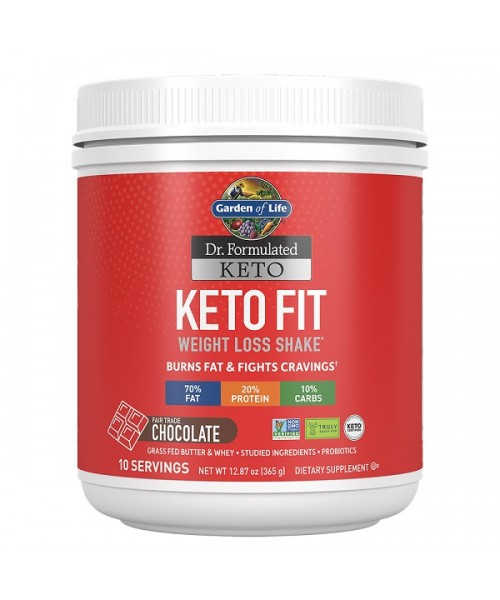 Garden of Life Keto Fit Weight Loss Shake Čokoláda 365g
