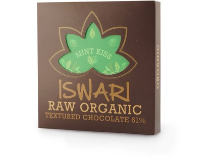 Iswari Raw čokoláda Mint Kiss BIO RAW 75g