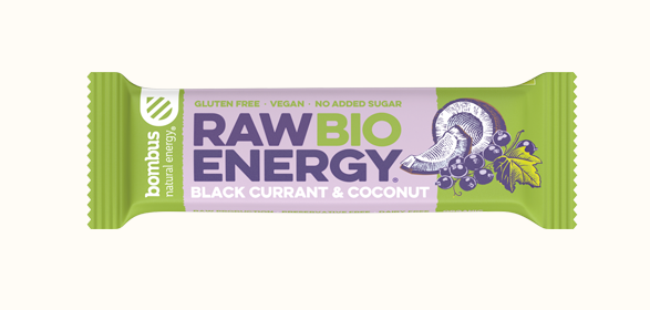 Bombus RAW Energy Black Currant & Coconut BIO 20x50g