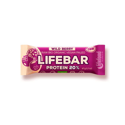 Lifefood Lifebar Protein lesní ovoce BIO RAW 47g