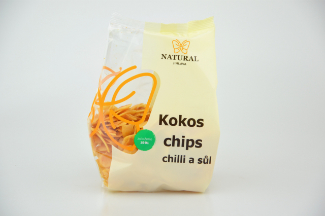 Natural Jihlava Kokos chips chilli a sůl 100g