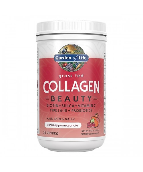Garden of Life Collagen Beauty brusinka a granátové jablko Kolagen 270g