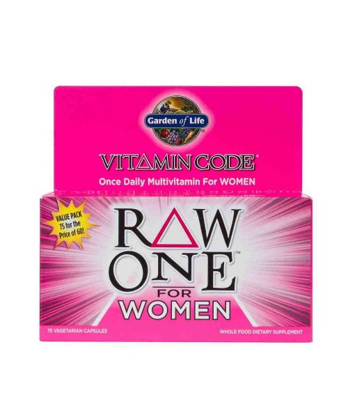 Garden of Life Vitamin code RAW ONE pro ženy 75 kapslí