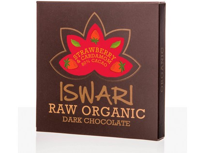 Iswari Raw Dark Strawberry & Cardamom BIO RAW 75g