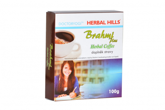 Herbal Hills Bylinná káva BRAHMI plus Herbal Coffee 100g